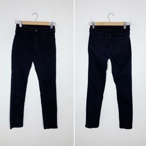 H&M black mid rise skinny cropped jeans